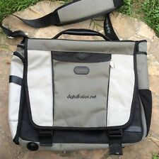 McKlein Large Nylon Messenger Laptop Bag Padded Strap Career College School Book