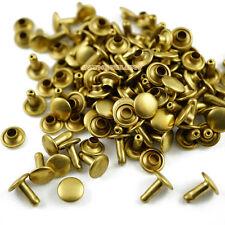 250 set 8*8mm Brass Material Double Cap Round Rapid Rivet Leathercraft Rivet