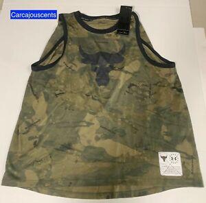 Women's Under Armour Project Rock Camo Tank Size Medium #1358653