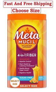 Metamucil Psyllium Sugar Free Fiber Supplement Powder Orange 72,114,180 tsp