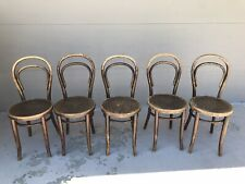 SET-5 THONET 1910 Bent-Wood Bistro French Cafe Chairs
