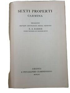 SEXTI PROPERTI CARMINA 1953 OXFORD UNIVERSITY PRESS