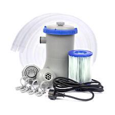Filterpumpe 2006 L/H inkl. FILTER Poolreinigung Pumpe Flowclear™ BestWay 58383