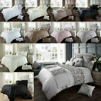 Verina Duvet Cover Bedding Sets With Pillow Cases Single Double King Super King