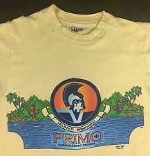 Vintage Mens M 80s Hawaii Island Brewed Primo Beer Beach Surf Hanes T-Shirt
