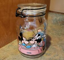 Disney Mickey Mouse and Minnie Cookie Jar Flip Lid Goofy Donald Duck Daisy Duck
