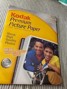 Kodak Premium Picture Paper For Inkjet Prints High Gloss 15 Sheets 8.5 x 11 New