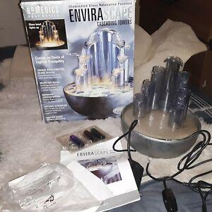 Homedics Envirascape Cascading Towers Illuminated Glass Relaxation Fountain