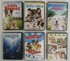 Lot of 6 Children's DVDs Dolphin Tale, Little Heroes, Hotel For Dogs, George!