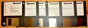"GENUINE MICROSOFT WINDOWS 3.11 INSTALL OS SET - 3.5"" 1.4 MB FLOPPY DISKS + BOOK"