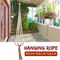 Braided Macrame Plant Hanger Basket Flowerpot Holder Planter Hanging    T