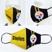 Pittsburgh Steelers Face Masks Men Women Child Filtered Reusable Washable Cotton