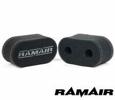 2x RAMAIR Doble Capa Espuma Carburador Calcetín Aire Filtros Bmw 320 4cyl WEBER