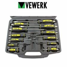 VEWERK 12pc Philips / Flat Slotted Head Go Through Screwdriver Set Go Thru 1589