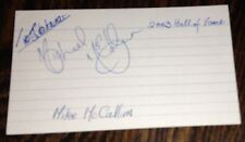 MIKE MCCALLUM-MULTI WORLD CHAMP-BOXER-AUTOGRAPH-INDEX CARD-SEE MY OTHER BOXING!