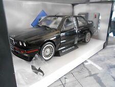 BMW m3 e30 Evo Sport Evolution 1990 Black Noir SOLIDO métal NEUF NEW to 1:18