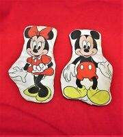 MICKEY MOUSE COLLECTION VINTAGE 5 PIECES, BOOK, PENDANT, FIGURE AND 2 PADS (ONE