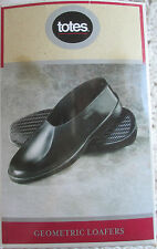 NIB Mens Totes Geometric Loafers Rubbers Black S 7-8.5 Shoe Covers Protection