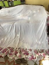 Laura Ashley Lifestyles Pink Floral King Bed Skirt