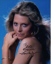 Lindsay Wagner Hand Signed 8x10 Color Photo Gorgeous Pose To Bob Jsa