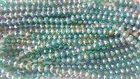Joblot of 10 strings (720 beads) 8mm Dark Teal Crystal beads new wholesale