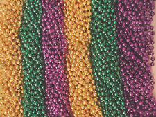 36 Purple Green Gold Mardi Gras Beads Party Favors Necklaces (3 Dozen)