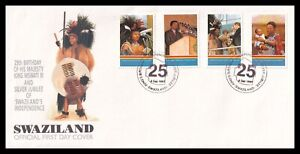 1993 Swaziland King Mswati Birthday / Independence SG626-629 Set on Official FDC