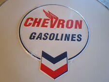 tin metal home garage repair shop man cave decor service station fuel chevron x2