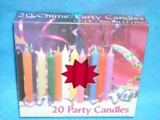 "Angel Chime Party Candles, 1/2"" Diameter x 4"" Tall, 20 in New Box, Red"