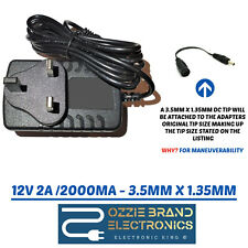 12V 2A POWER SUPPLY ADAPTER CHARGER PLUG FOR PHILIPS PICO PIX PPX2480 PROJECTOR