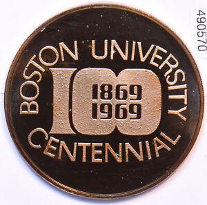 1969 Medal Proof Boston University Centennial 490570 combine shipping