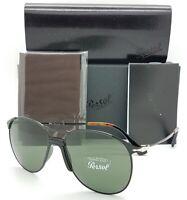 NEW Persol sunglasses PO2649S 107831 55 Black Classic Grey Green AUTHENTIC 2649