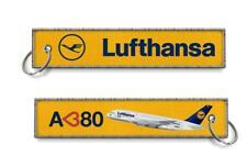 Lufthansa-I Love A380 Woven keychains x2