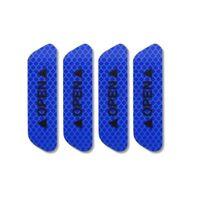 4pcs Super Blue Car Door Open Sticker Reflective Tape Safety Warning Decals HOT
