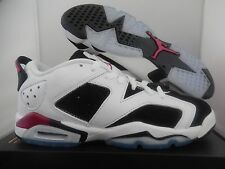 NIKE AIR JORDAN 6 RETRO LOW GG WHITE-PINK SZ 7Y-WOMENS SZ 8.5 [768878-107]