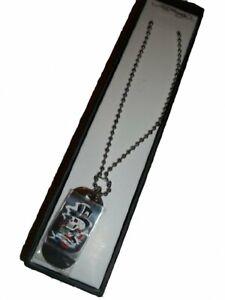 Ed Hardy Love Kills Slowly - Skull Dog Tag Necklace