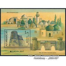 Aserbaidschan Azerbaijan Europa CEPT 2017, Burgen/Castles, Block / souv.sheet **