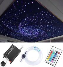 12V 16W RGB LED Fiber Optic Star Ceiling Light Kit 260pcs 2M 0.75mm Home Car