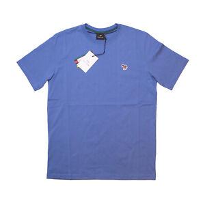 Paul Smith Mens Zebra Badge Regular Fit Short Sleeve Tee T-Shirt in Powder Blue