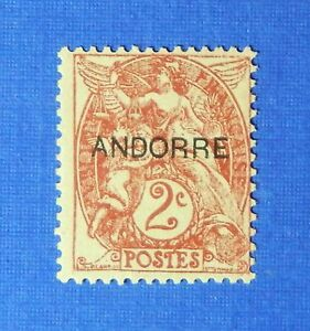 1931 ANDORRA FRENCH 2c SCOTT# 2 MICHEL # 3 UNUSED                        CS26071