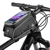 Touch Screen Cycling Bicycle Bag Frame Top Tube Phone Holder For Road MTB Bike