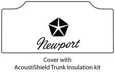 1965 1968 Chrysler Newport Trunk Rubber Floor Mat Cover with MB-030 Newport