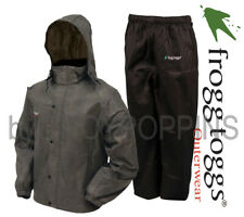 FROGG TOGGS RAIN GEAR-AS1310-105 MENS ALL SPORT STONE/BLACK SUIT GOLFING WEAR