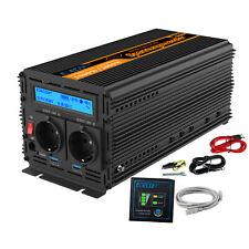 Inverter 1000W 2000W 12V 220V Onda Sinusoidale Pura Convertitore LCD 2.1A USB