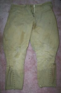 PRE-WW1 BREECHES, HOT WEATHER COTTON PANTS, SIZE 34, U.S. ISSUE *NICE*
