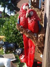 Ara Paar Rot a. Stamm lebensecht Papagei 38cm Dekoration NEUHEIT HOTANT