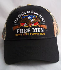 2ND AMENDMENT RIGHT TO BEAR ARMS BALL CAP HAT NEW NWT OSFM