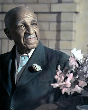 "GEORGE WASHINGTON CARVER AFRICAN AMERICAN 8X10"" HAND COLOR TINTED PHOTOGRAPH"