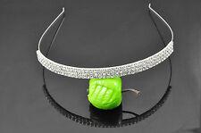 Wedding Bridal Prom 3 Rows Rhinestone Headband Hair Accessories Tiara HT12