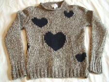 *Antoni & Alison* wool blend chunky knit sweater with heart design - UK 10 VGC!